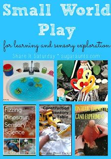 Small World Play for learning and sensory exploration | 9 fun ideas | SugarAunts | Share It Saturday