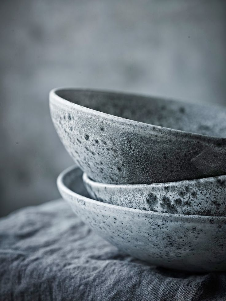 Plates by father and son ceramicist duo KH Wurtz. The official suppliers to the Copenhagen restaurant Noma.