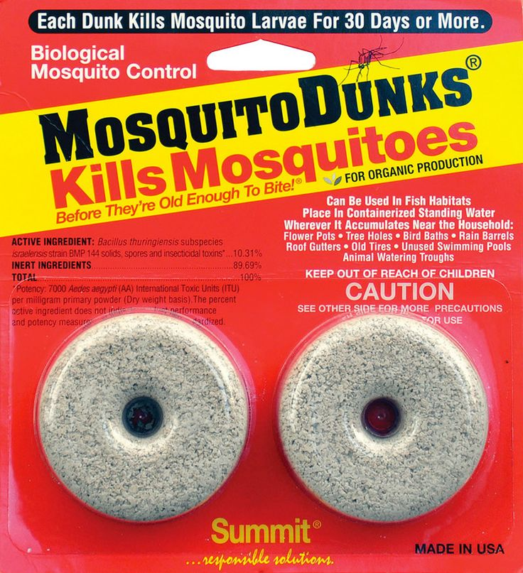Mosquito Dunks are products that attack mosquitoes in development stages, more…