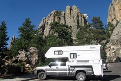 Lance Camper With Mt Rushmore In Background, https://www.truckcampermagazine.com/expeditions/united-states/black-hills-badlands-bucket-list/