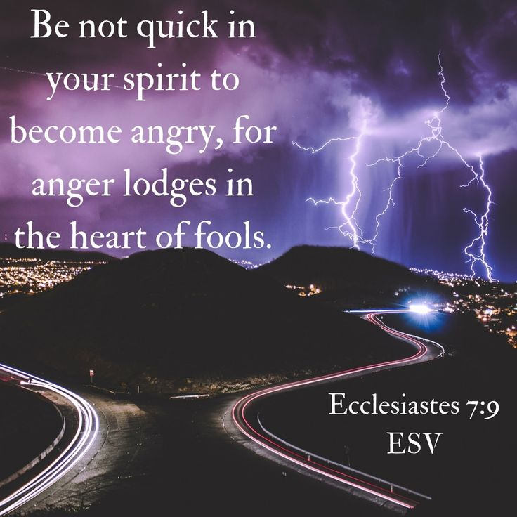 Control your temper, for anger labels you a fool. Ecclesiastes 7:9