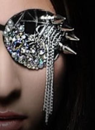Eye Patch - Mirror Glass Spike Crystals 2012 NEW Fashion Eye,  Accessory, eye patch  eye  patches  spikes  mirror, Gothic