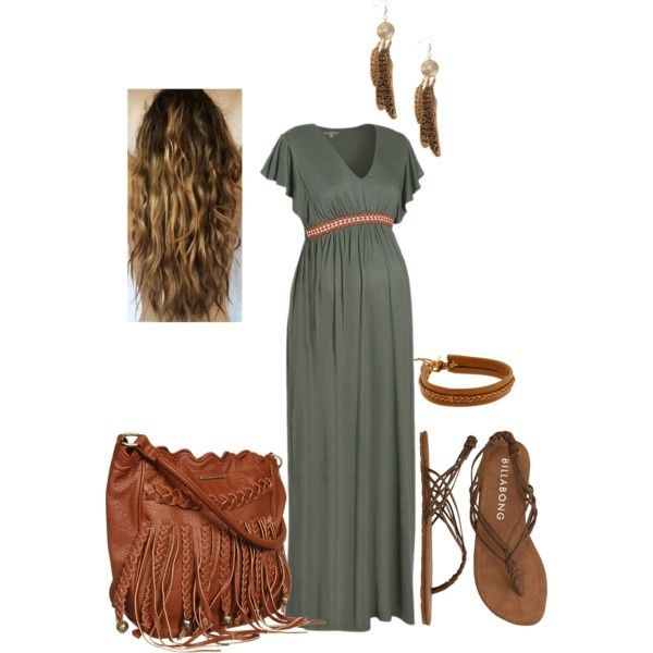 bohemian maternity outfit by rebelblondie on Polyvore