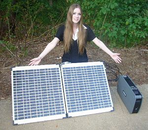 "Warren says: ""Screw the Grid!""     1800 watts with a 120-watt folding solar panel  and 70 AMP HOUR Battery!  (That means you can run a LOT of stuff to stay comfy)     So Light  Portable You Can Throw It In Your Car To Evacuate"