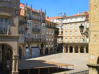 The Plaza Major Square, Orense Spain