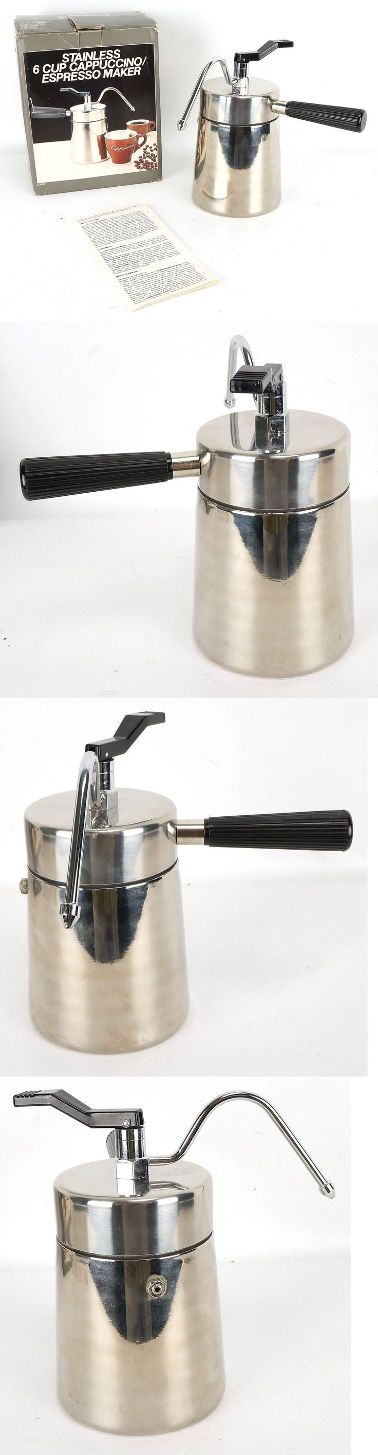 Percolators and Moka Pots 116012: National Silver Stainless 6 Cup Stovetop Cappuccino Espresso Maker 1984 -> BUY IT NOW ONLY: $44.99 on eBay!