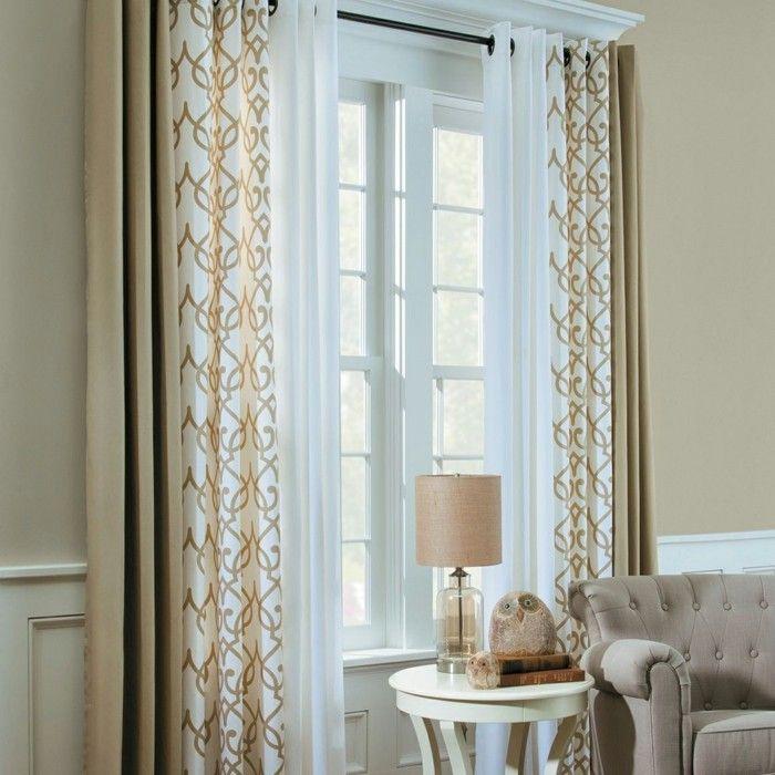 Die besten 25+ Wohnzimmer vorhänge Ideen auf Pinterest Vorhänge - gardine wohnzimmer modern