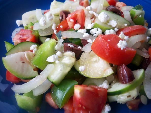 Albanian Tomato Cucumber Salad. Photo by *Parsley*