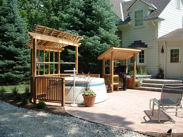 Roof over grill patio ideas pinterest arbors