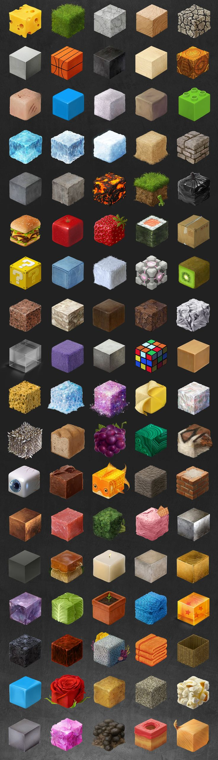 把東西通通變成正方形!100 個手繪紋理研究 | 大人物