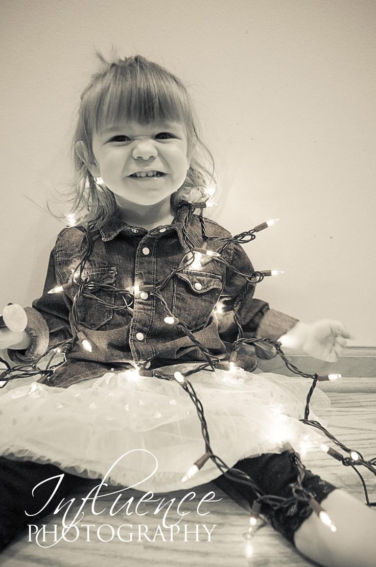 Fun Toddler Christmas photo #Christmas #photography #lights