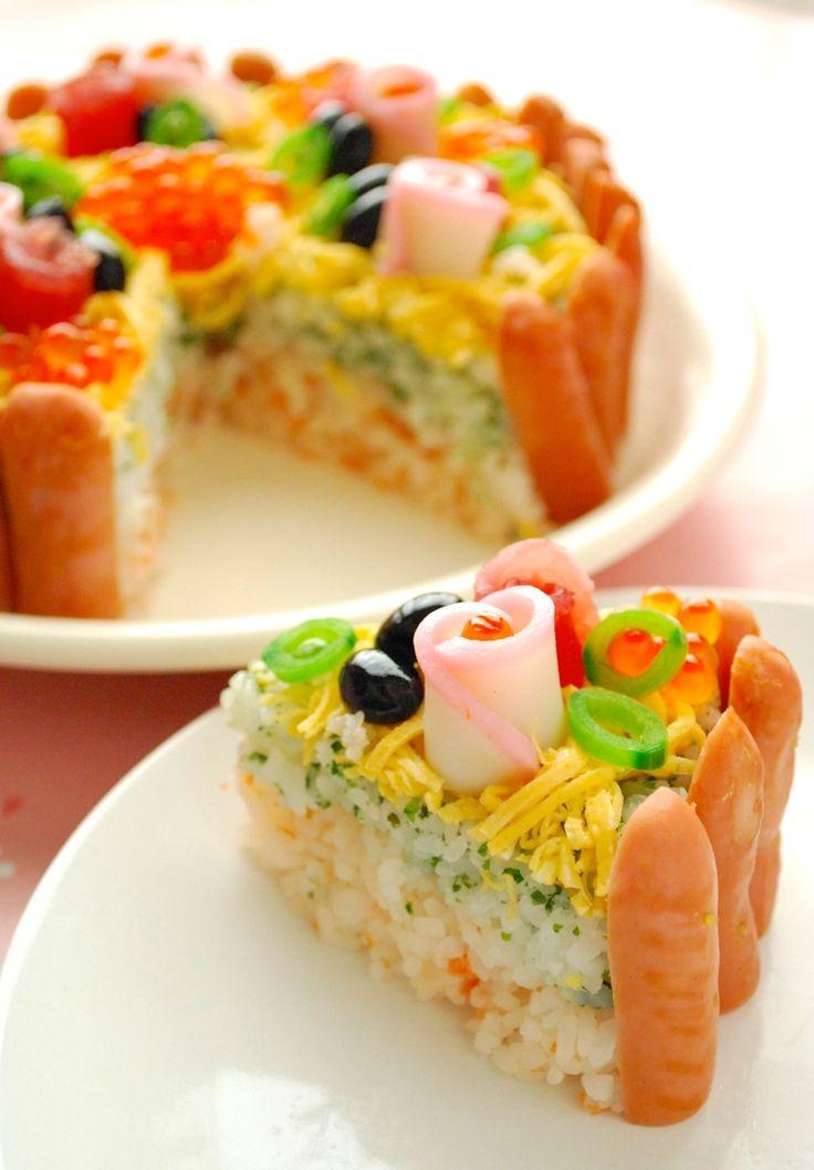 レシピあり!ひな祭り☆タルト風ケーキのちらし寿司 |ザッキー☆のキャラ弁LIFE