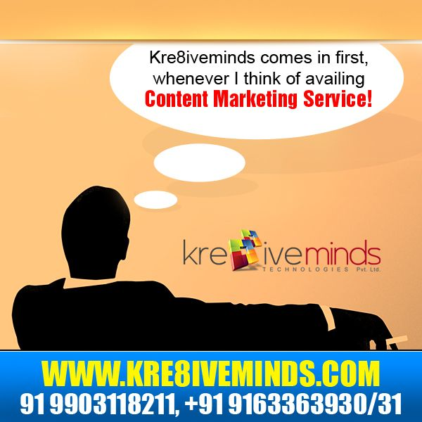 There are no companies like Kre8iveminds Technologies Pvt. Ltd. that offer complete IT solutions under one roof and that too at an affordable price. We have the best professionals from the industry who understand your requirements and thereby act to provide you the best services eclectic from SEO, SMO, Website Designing to #ContentMarketing! http://www.kre8iveminds.com/