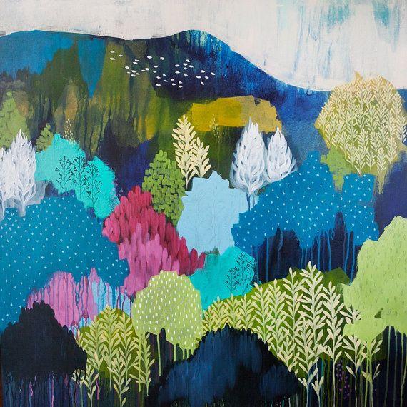 Mount Burrangong Fine Art Print reproduction of by ClairBremnerArt