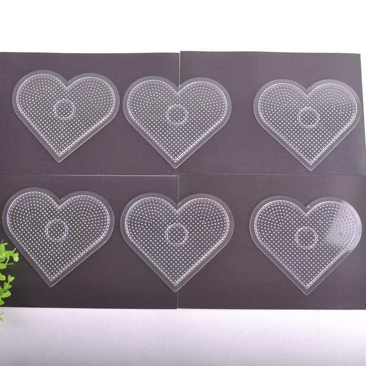 Много = 6 ШТ. Сердце PegBoards Для 5 мм Perler Бисер Ель для 5 мм Perler Бусы Hama Бусы Плавленый Бисер Школы DIY