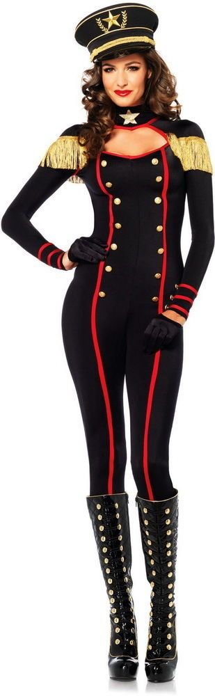 Sexy Military Major General Officer Catsuit Halloween Costume Outfit Adult Women in Clothing, Shoes & Accessories | eBay