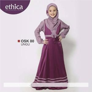 Baju Gamis Anak Ethica OSK 80 UNGU - Ramadhan Sale