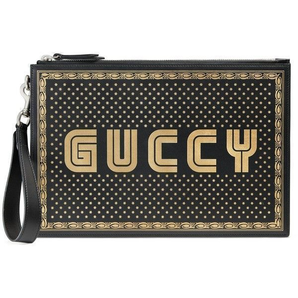 Gucci Guccy Print Leather Pouch (€865) ❤ liked on Polyvore featuring men's fashion, men's bags, accessories, black, wallets & small accessories, women, gucci mens bag, mens leather pouch bag, mens leather bag and mens luggage bag #mensaccessorieswallet #mensaccessoriesbags