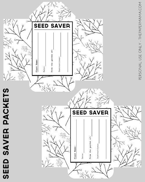 Seed Saver Packet Printables - The Paper Mama