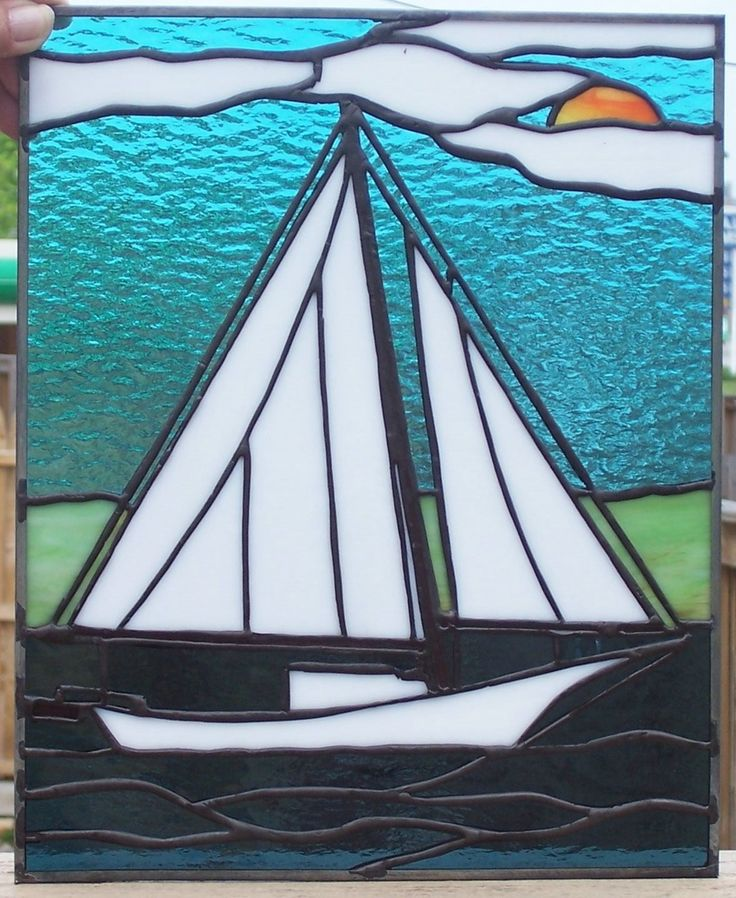 242 Best Images About Stained Glass Bateaux On Pinterest