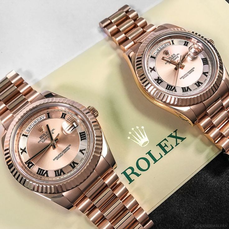 This Rose Gold Roman Duo will take your twin game to the highest level! Tag your best friend! 41mm $27800.00 Each . . . .