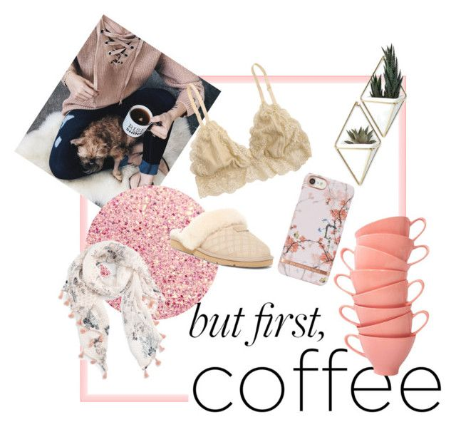 """cozy&coffee"" by ipeeks on Polyvore featuring Umbra, Chicwish, Caslon and UGG"