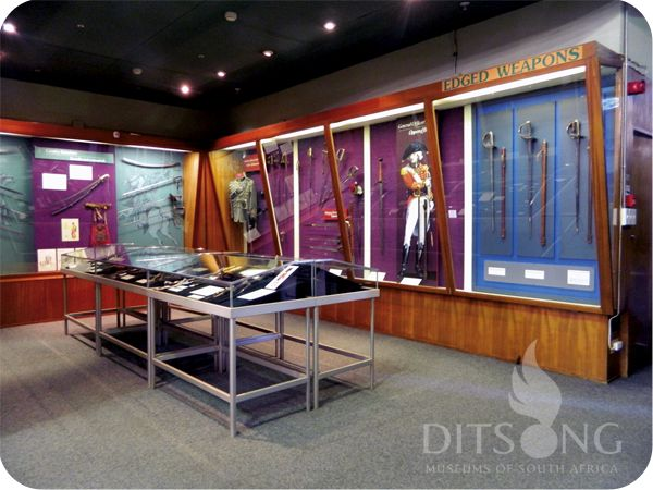 .: DITSONG MUSEUMS OF SOUTH AFRICA :. Sword Display 19th and 20th  Century weapons.