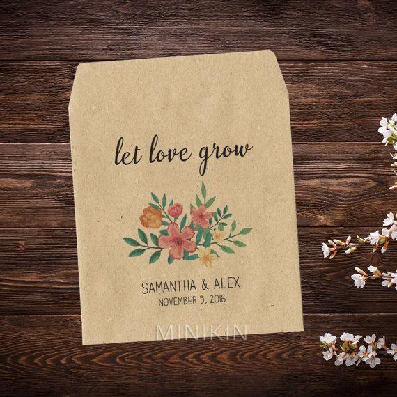 Floral Wedding Favor Bags - Floral Wedding Details