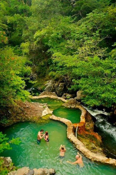 I could really use one of these right about now. Thermal hot springs, Costa Rica.                                                                                                                                                      More