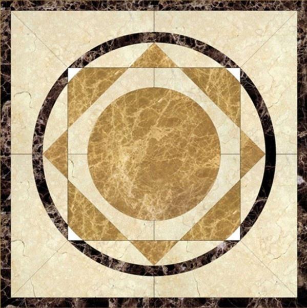 Western Inlay Floor Tile Circular Design : Inlaid marble floor patterns american style inlay