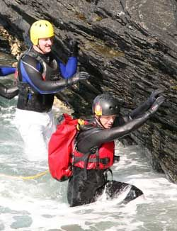 half-day coasteering in wales