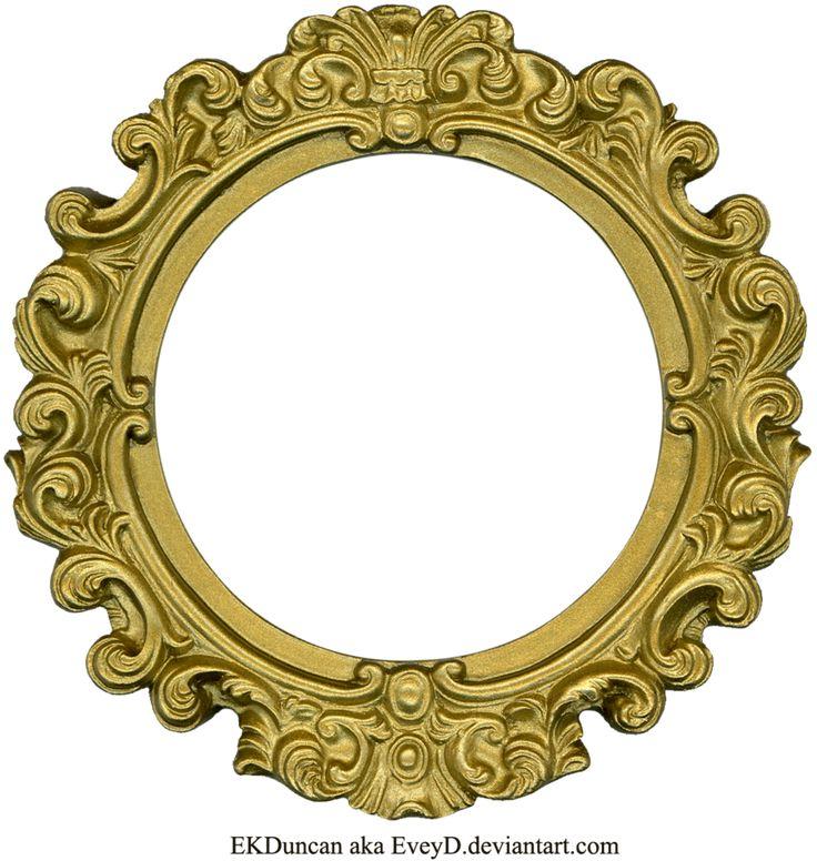 Vintage Gold Frame - Round by EveyD.deviantart.com on @deviantART