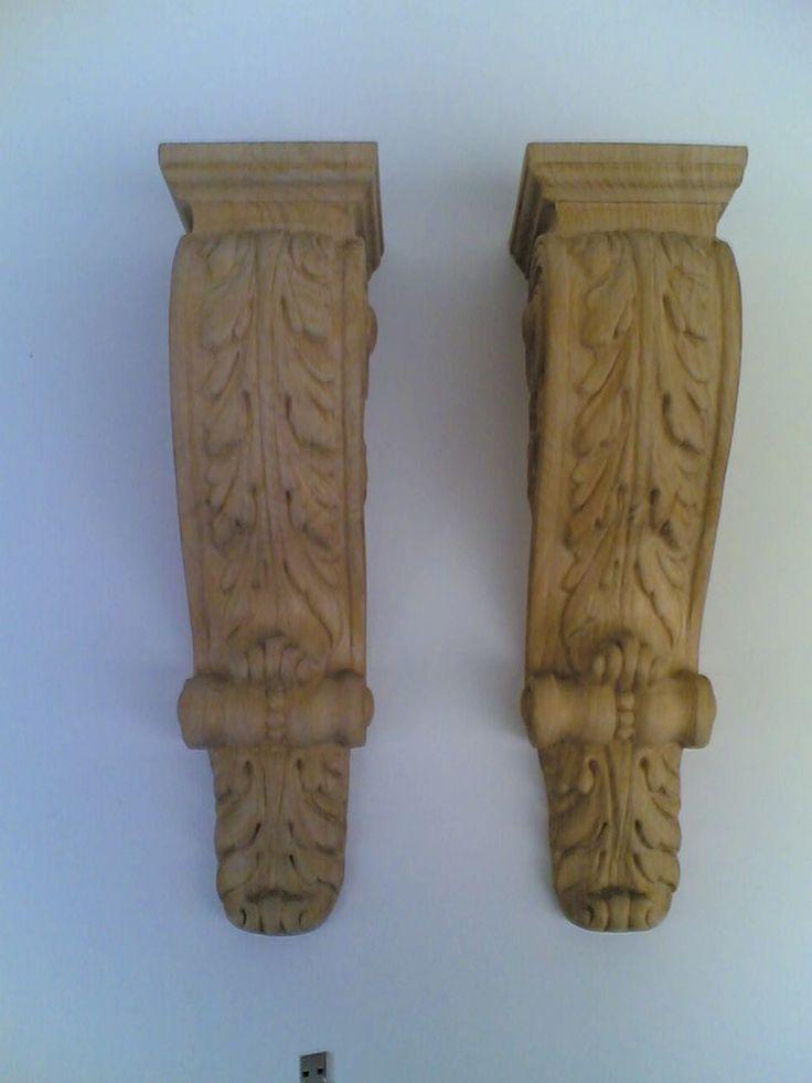 Fregi a capitello legno in coppia
