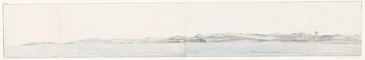 Louis Ducros   Panorama met Agrigento en de kust, Louis Ducros, 1778   Tekening uit het album 'Voyage en Italie, en Sicile et à Malte', 1778.