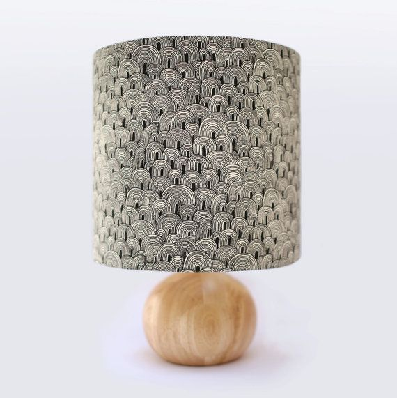 Hand Printed Lampshade Hand Drawn Pattern Hand by Emilybucknell, £50.00