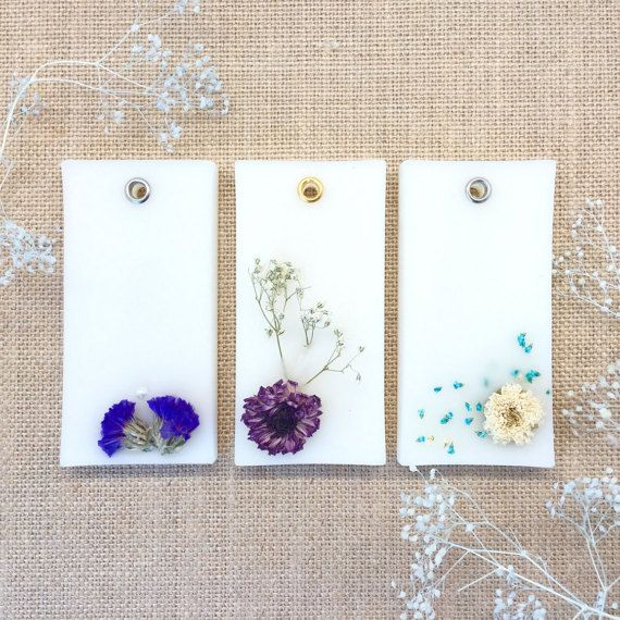 Set 2 Scented Wax Tablets w/ Dried Flowers for by DFlowerBoutique