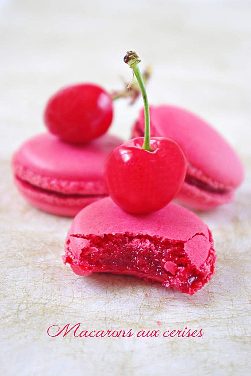 Cherry Macarons Recipe