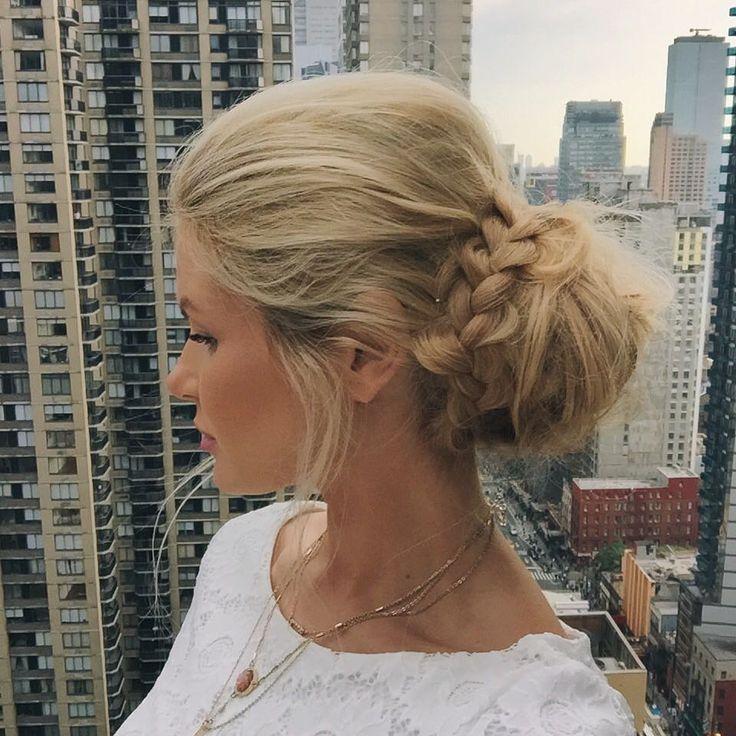 "Amber Fillerup Clark on Instagram: ""Tonight's rooftop/date night hair ❤️ (Atticus is third wheeling )"""