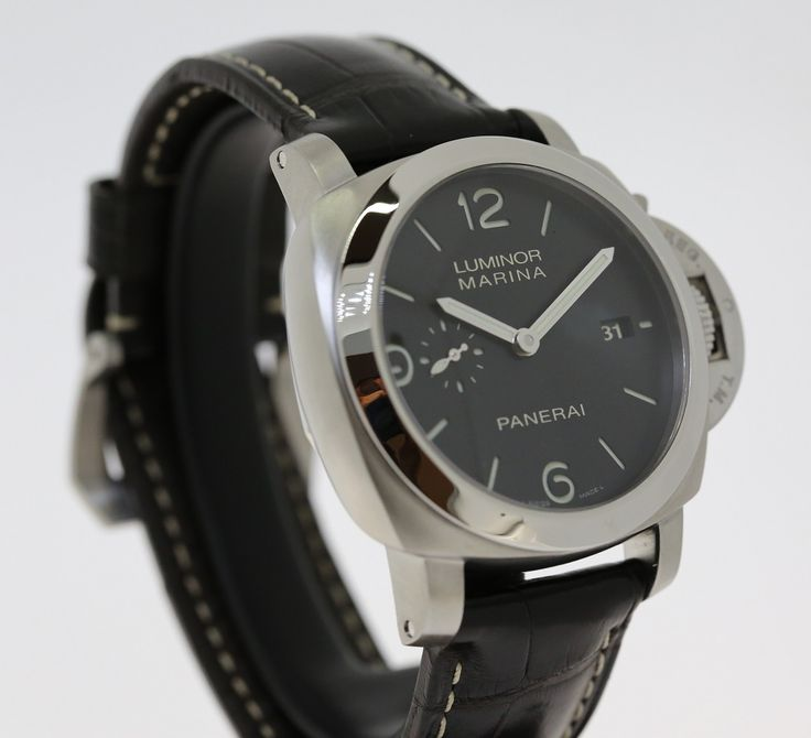 """Arguably the most popular Panerai, the PAM 312 features the """"Sandwich Dial"""" and P9000 in-house automatic movement with 72hr Power Reserve. This watch was se"""