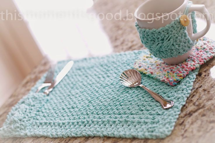FREE LOOM KNITTING PATTERN! Loom knit Placemat with ...