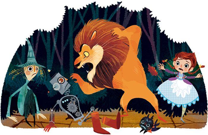 Трусливый Лев. Автор: Lorena Alvarez.