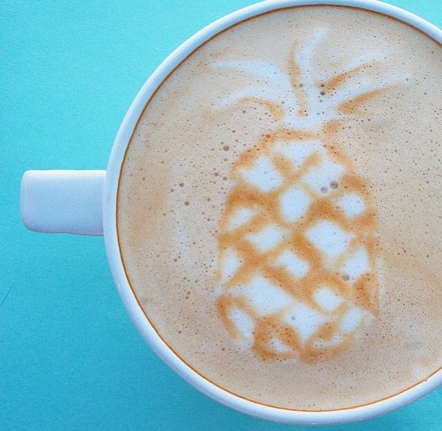 Pineapple latte art