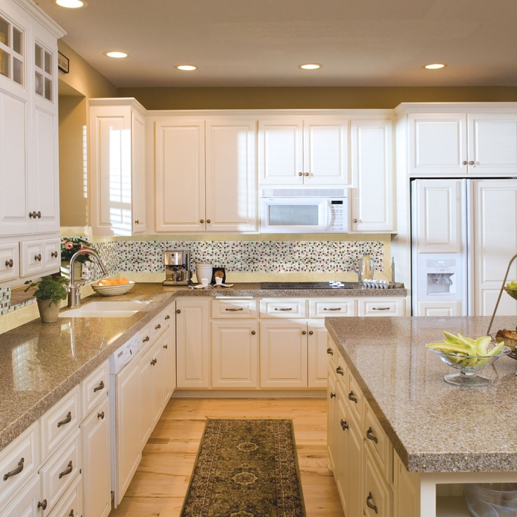 Lovely Love This Bright Kitchen With Granite Transformations Countertops And  Mosaic Backsplash!