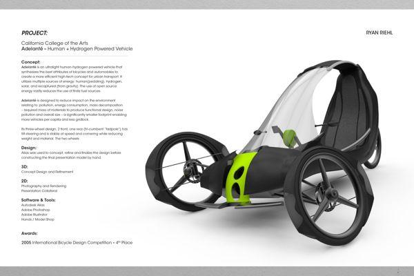 ADELANTE - Human + Hydrogen Powered Vehicle