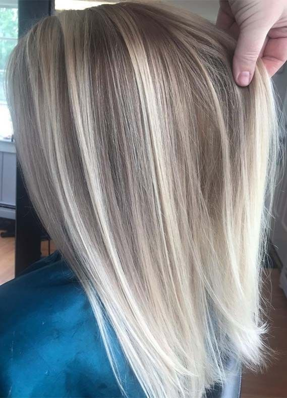 Gorgeous Blonde with Balayage Highlights to Wear in 2019