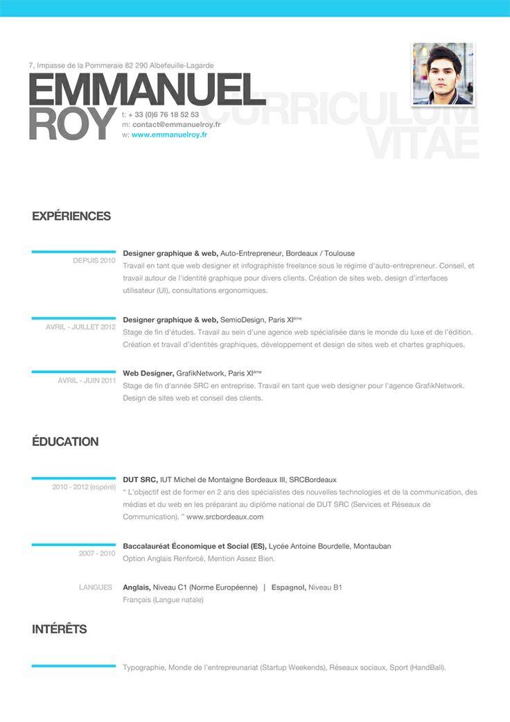 23 best resume images on Pinterest
