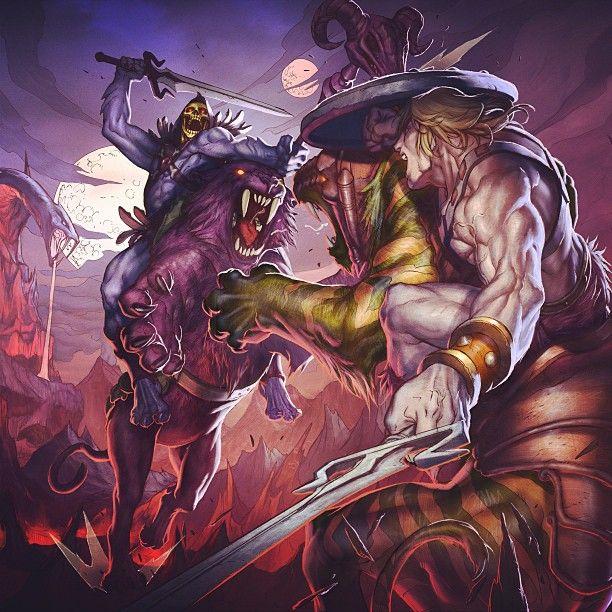 He-Man vs Skeletor | Masters of the Universe | Pinterest
