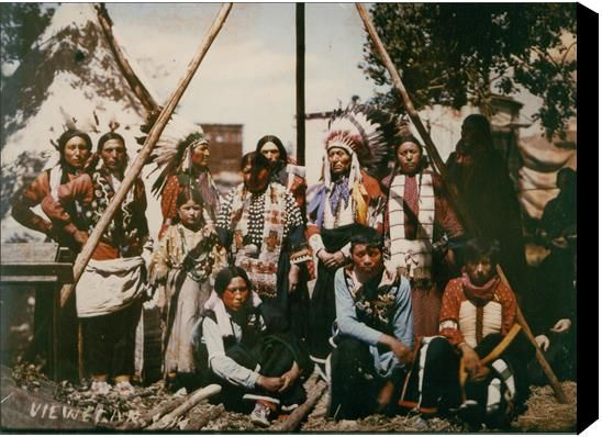 Authentic - Only true colour photo in existence of Buffalo Bill's Wild West Sioux Indian cast. Check out the gallery and testimonials on www.vieweger.ca