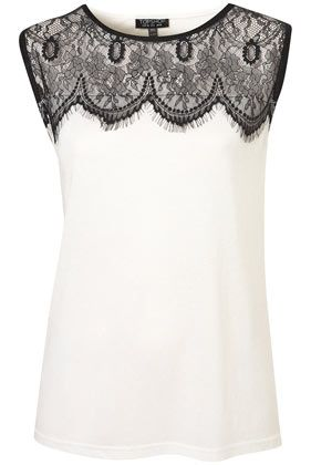 MAKE THIS MYSELF WITH LACE - Eyelash Lace Shell Top