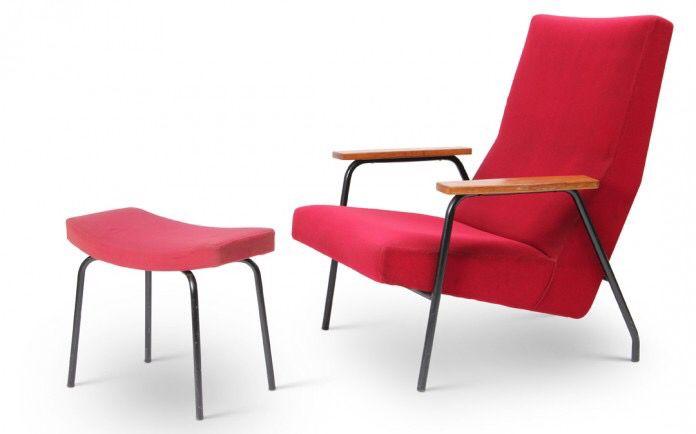 Fauteuil et ottoman pour meurop 1950s pierre guariche pinterest repose - Pierre guariche fauteuil ...